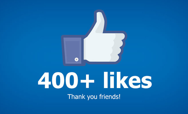 Facebook : Vous êtes 400 à nous suivre ! Merci beaucoup !